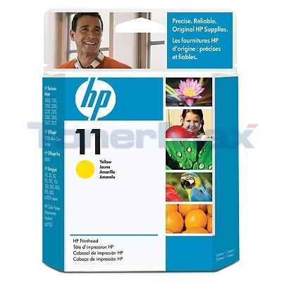 HP NO 11 PRINTHEAD YELLOW